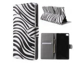 Koženkové pouzdro TVC Zebra pro Huawei P8